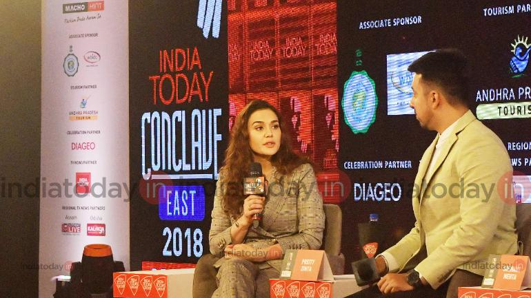 Preity Zinta at India Today Conclave East 2018.