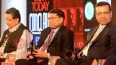 (L-R) Harshavardhan Neotia, Sanjay Budhia and Sanjiv Goenka