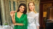 Jacqueline Fernandez goes green for unmissable photo with Amber Heard