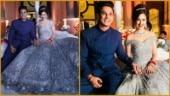 Newlyweds Prince Narula and Yuvika Chaudhary looked regal at their reception