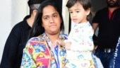Arpita Khan is a tacky painting in this multicoloured shirt. Pics from Jodhpur