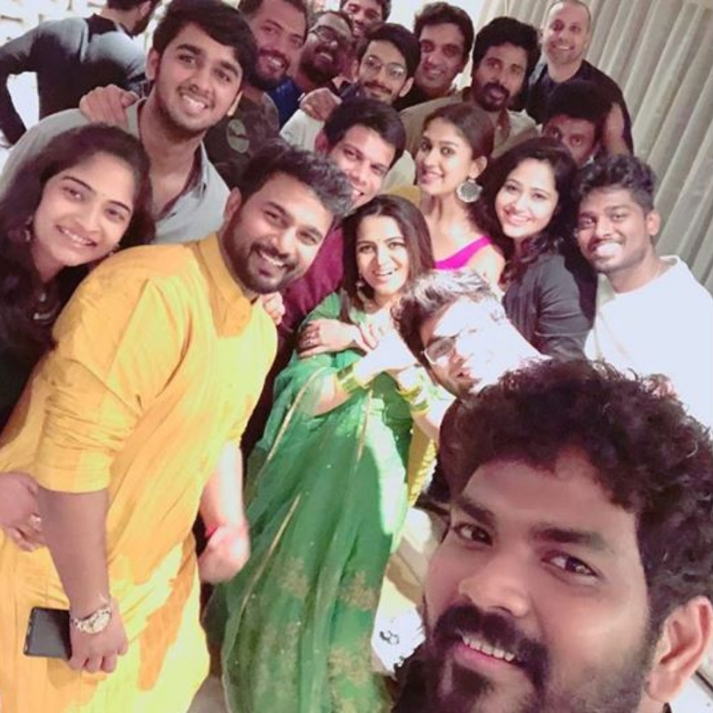 Vignesh Shivan and Nayanthara with his friends