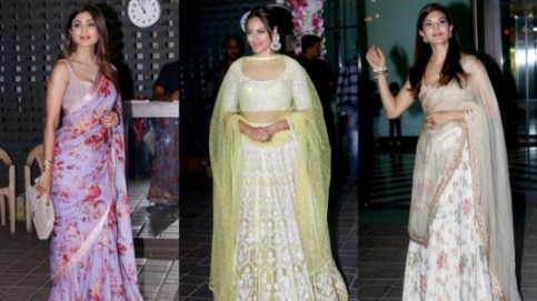 Stars at Arpita Khan's Diwali party.