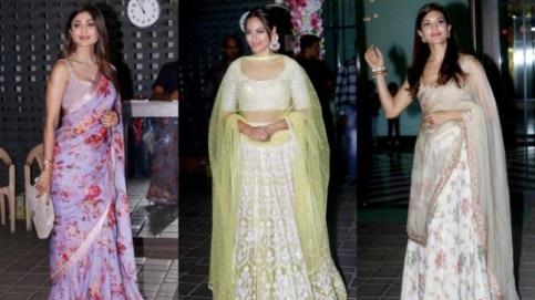 Stars at Arpita Khan's Diwali party.