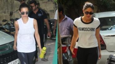 Malaika Arora and Kareena Kapoor Khan at the gym Photo: Yogen Shah