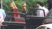 Nick Jonas with Joe Jonas and Sophie Turner at pre-wedding puja.