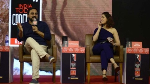 Yami Gautam and RS Prasanna at the India Today South Conclave