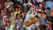 Jacqueline Fernandez spreads some Christmas cheer at orphanage. See pics