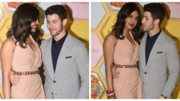 Newlyweds Priyanka Chopra and Nick Jonas attended an event in Delhi.