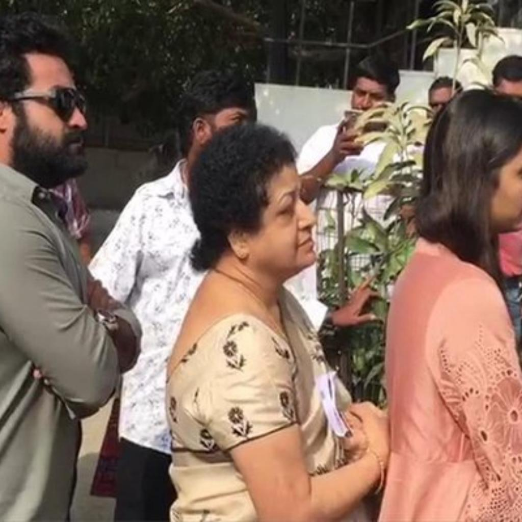 JR NTR with his family