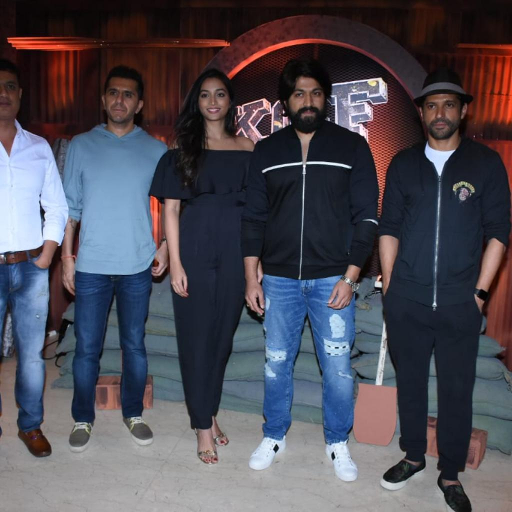 KGF team with Farhan Akhtar and Ritesh Sidhwani