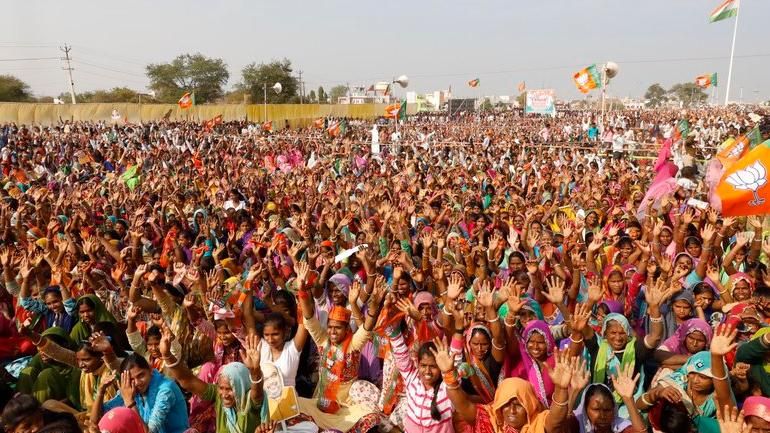 IN PICS | BJP, Congress hold rallies in poll-bound Rajasthan