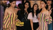 Alia Bhatt pairs Rs 1 lakh clutch with striped jumpsuit. See pics