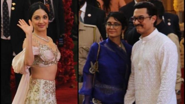 Kiara Advani and aamir Khan reach Antilia for Isha Ambani wedding.