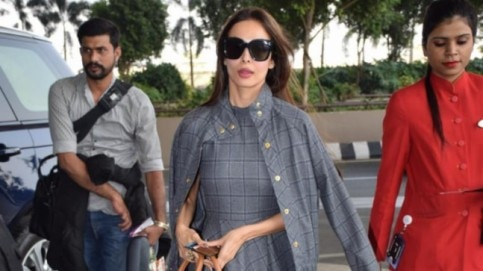 Malaika Arora spotted at the airport Photo: Yogen Shah