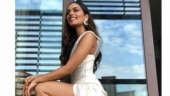 Manushi Chhillar is raising the heat in this thigh-high slit gown. See pics