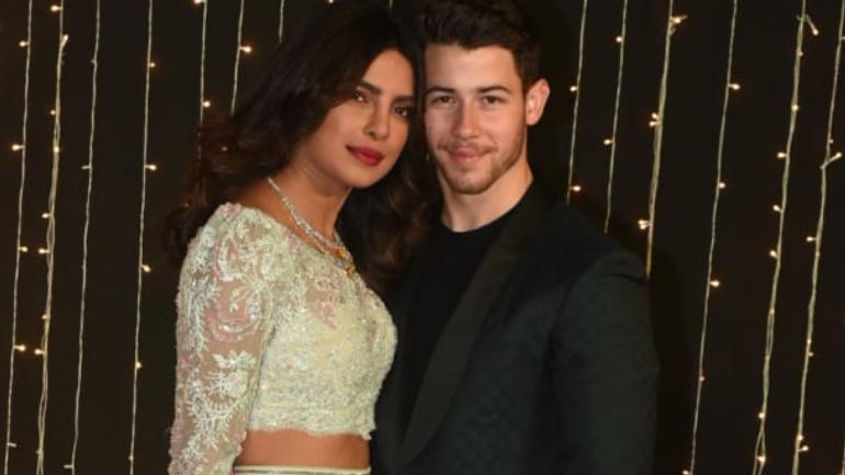 Priyanka Chopra and Nick Jonas at their Mumbai reception