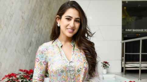 Sara Ali Khan looked gorgeous in a white chikankari suit.