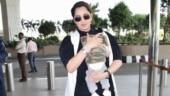 Sania Mirza nails mommy fashion in monochrome ensemble with son Izhaan