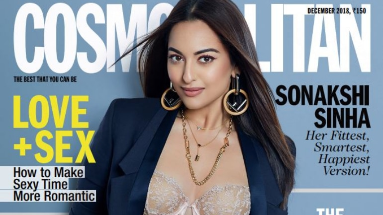 Sonakshi Sinha on the cover of Cosmopolitan India