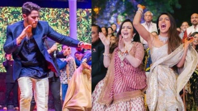 Priyanka and Nick sangeet ceremony
