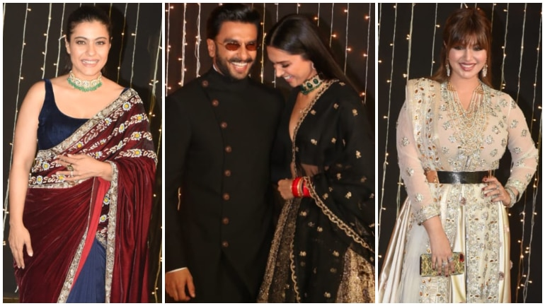 Kajol, Deepika Ranveer and Ayesha Takia at Priyanka Chopra and Nick Jonas reception Photo: Yogen Shah