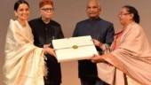 Manikarnika special screening: President Ram Nath Kovind watches Kangana Ranaut film, felicitates cast
