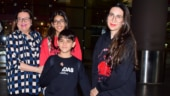 Karisma, Samiera and Kiaan Raj Kapoor return from Dubai after celebrating New Year