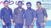 Mr Majnu: Jr NTR lights up Akhil Akkineni-Nidhhi Agerwal film pre-release event. See pics