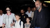 Sanjay Dutt, Maanayata and kids return from their Dubai vacation