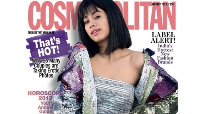 Janhvi Kapoor on the cover of Cosmopolitan India