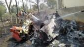 In Images | IAF Surya Kiran jets collide mid-air, crash in Bengaluru