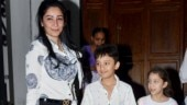 Maanayata Dutt steps out with Rs 2 lakh bag on dinner date with kids Shahraan and Iqra