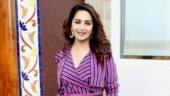 Madhuri Dixit in wrap dress for Total Dhamaal promotions is making our hearts go Dhak Dhak