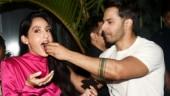 Nora Fatehi celebrates birthday with Street Dancer co-actor Varun Dhawan