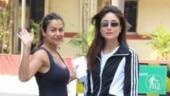 BFFs Kareena Kapoor and Amrita Arora turn up the Mumbai heat at the gym