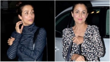 Malaika and Amrita Arora for their night out Photo: Yogen Shah