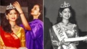 Juhi Chawla being crowned Miss India 1984 by Rekha. Unseen pics