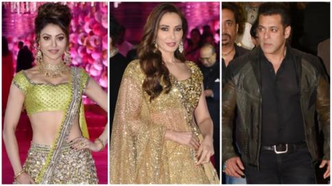 Urvashi Rautela, Iulia Vantur and Salman Khan at Azhar Morani's reception