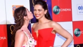 BFFs Alia Bhatt and Deepika Padukone hug and kiss. Ranbir Kapoor was there too