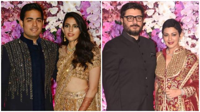 Akash Ambani and Shloka Mehta at wedding party Photo: Yogen Shah