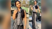 Hina Khan looks gorgeous beyond words in this black saree. See stunning pics