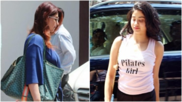 Twinkle Khanna and Janhvi Kapoor at the gym Photo: Yogen Shah