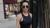 Malaika Arora scores a perfect 10 in sheer black top and shorts at the gym. See pics
