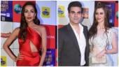 Malaika Arora, Arbaaz Khan and Giorgio Andriani at Zee Cine Awards 2019