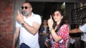 Lok Sabha polls 2019: Sanjay Dutt and wife Maanayata flaunt their inked finger for pics