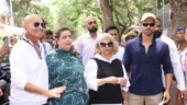 Lok Sabha Elections 2019: Hrithik Roshan arrives with dad Rakesh and family for voting. See pics