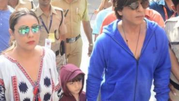 Shah Rukh Khan, Gauri and AbRam