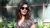 Richa Chadha is an eyesore in tiger print jumpsuit with plunging neckline. See pics
