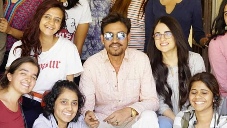 Irrfan and Radhika Madan are currently shooting for Homi Adajania directorial Angrezi Medium in Udaipur.